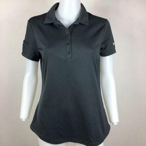 Nike Golf Women's Polo Shirt DriFit Gray Collared